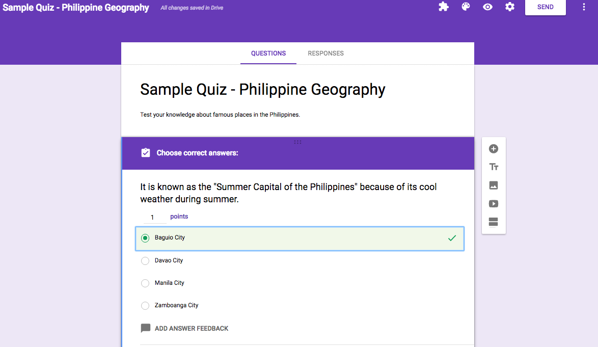 Easy to Use Quiz Feature of Google Forms